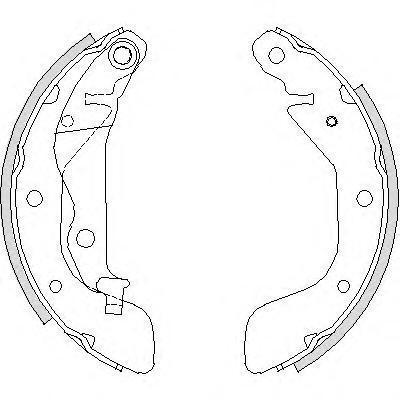 Колодки тормозные дисковые Remsa, комплект. 420800420800