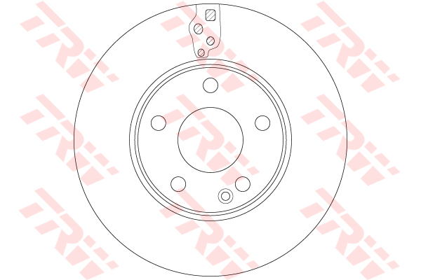 Диск тормозной Trw, передний, 2 шт. DF6548DF6548