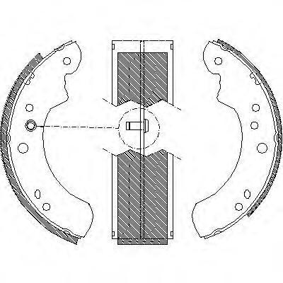 Колодки тормозные дисковые Remsa, комплект. 411200411200