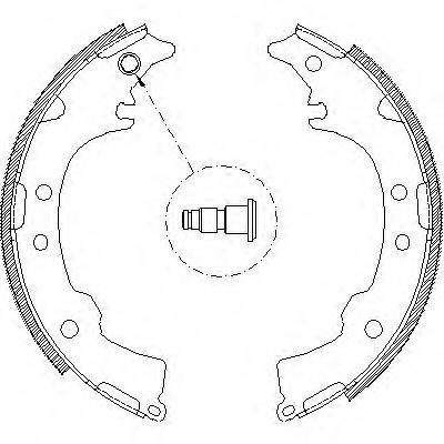 Колодки тормозные дисковые Remsa, комплект. 411500411500