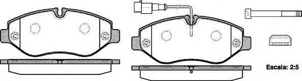 Колодки тормозные дисковые Remsa, комплект. 124502124502