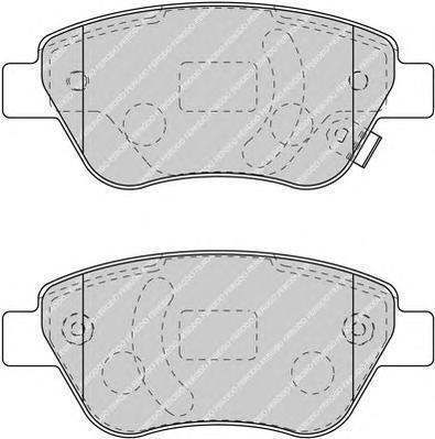 Колодки тормозные дисковые Ferodo. FSL1920FSL1920