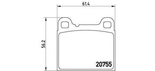 Колодки тормозные дисковые Brembo, задние. P86002P86002