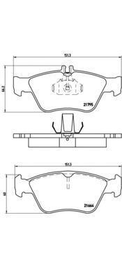 Колодки тормозные дисковые Brembo, передние. P50023P50023