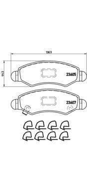 Колодки тормозные дисковые Brembo, передние. P79015P79015