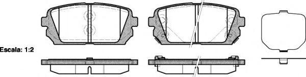 Колодки тормозные дисковые Remsa, комплект. 130302130302
