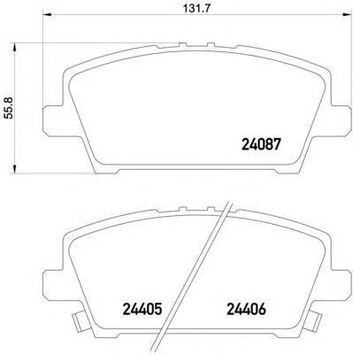 Колодки тормозные дисковые Textar, комплект. 24087012408701