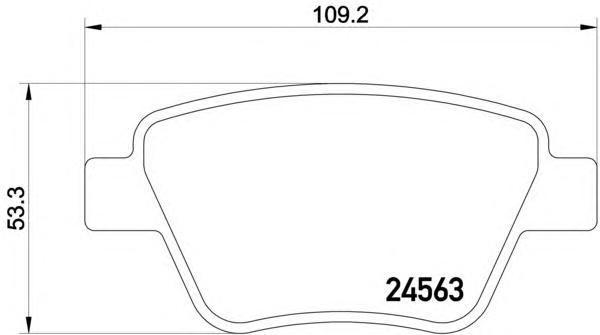 Колодки тормозные дисковые Textar, комплект. 24563012456301