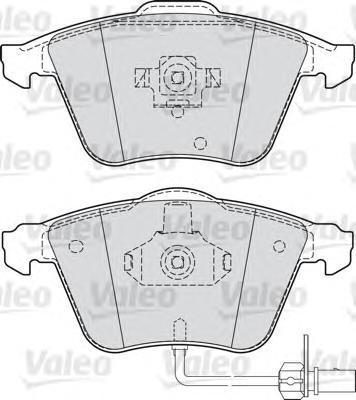 Колодки тормозные дисковые Valeo, комплект. 598822598822