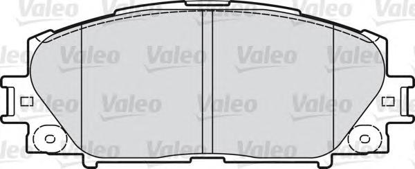 Колодки тормозные дисковые Valeo, передние. 598896598896