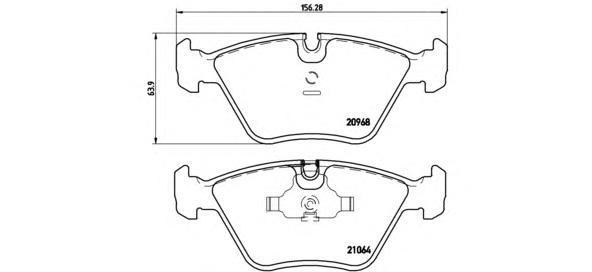 Колодки тормозные дисковые Brembo, передние. P06012P06012