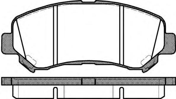 Колодки тормозные дисковые Remsa, комплект. 131800131800