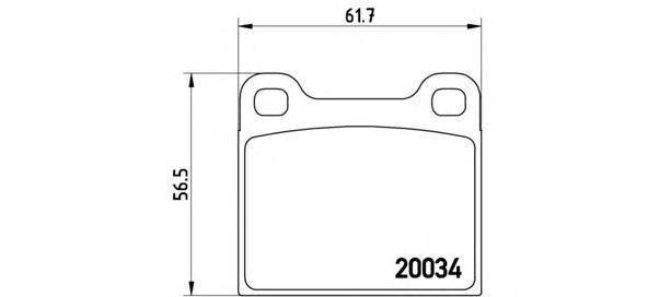Колодки тормозные дисковые Brembo, передние. P59001P59001