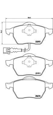 Колодки тормозные дисковые Brembo, передние. P85045P85045