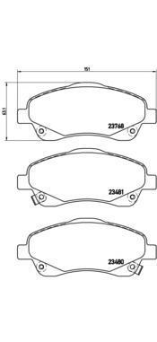 Колодки тормозные дисковые Brembo, передние. P83046P83046