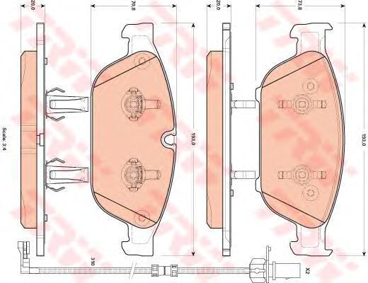 Колодки тормозные дисковые TRW. GDB1897GDB1897