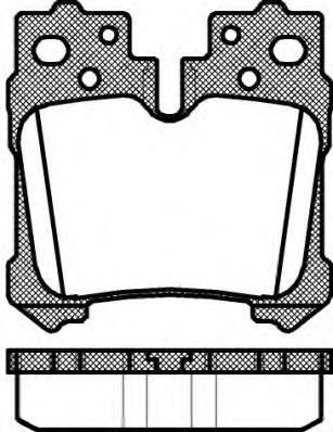 Колодки тормозные дисковые Remsa, комплект. 132100132100