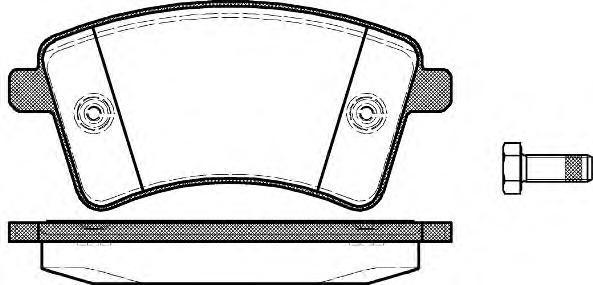 Колодки тормозные дисковые Remsa, комплект. 135100135100