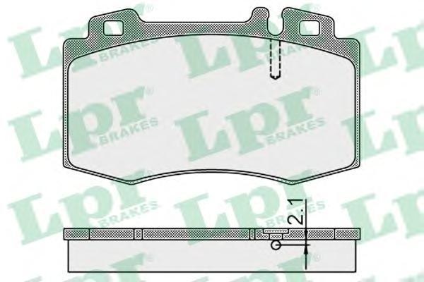 Колодки тормозные дисковые LPR / AP, передние. 05P89905P899
