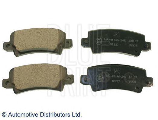 Колодки тормозные дисковые BLUE PRINT. ADT342131ADT342131