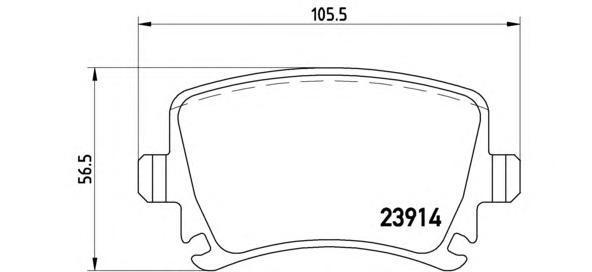 Колодки тормозные дисковые Brembo, задние. P85073P85073