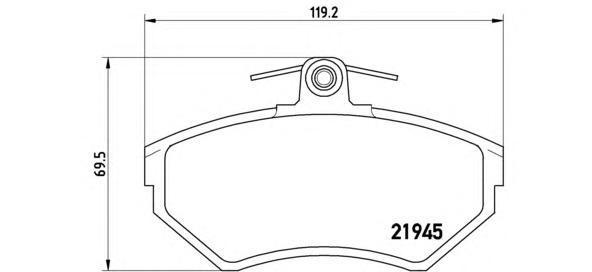 Колодки тормозные дисковые Brembo, передние. P85042P85042