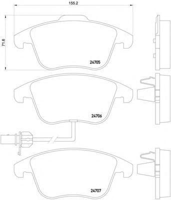 Колодки тормозные дисковые Textar, комплект. 24706012470601