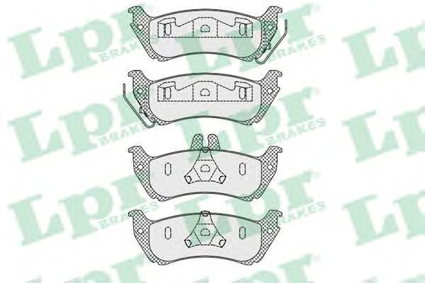 Колодки тормозные дисковые LPR / AP, задние, M класс W163. 05P100005P1000