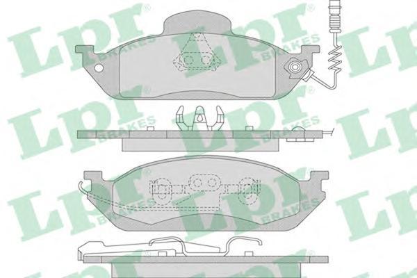 Колодки тормозные дисковые LPR / AP, передние, M класс W163. 05P98305P983