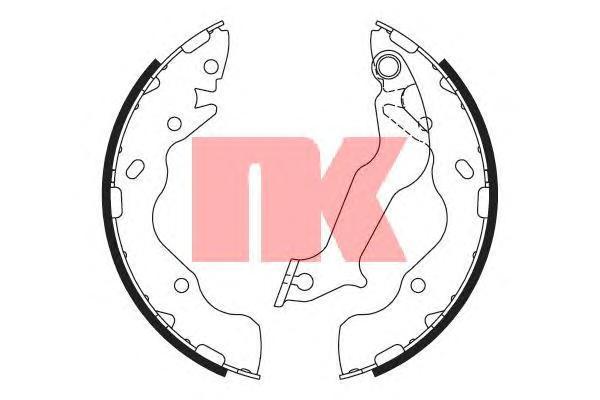 Колодки тормозные дисковые NK. 27358202735820