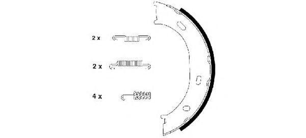 Колодки тормозные дисковые BEHR-HELLA, для парковочного тормоза. 8DA355050-2918DA355050-291