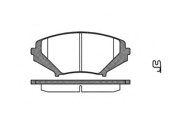 Колодки тормозные дисковые Remsa, комплект. 108001108001