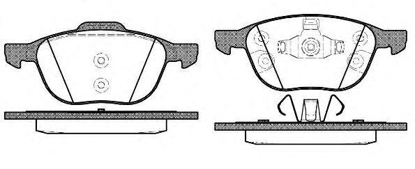 Колодки тормозные дисковые Remsa, комплект. 108230108230
