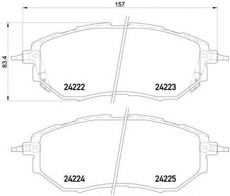 Колодки тормозные дисковые Textar, комплект. 24222012422201