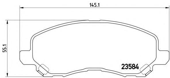 Колодки тормозные дисковые Brembo, передние, комплект. P54030P54030