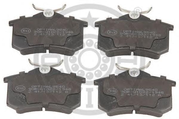 Колодки тормозные дисковые Optimal. 95409540