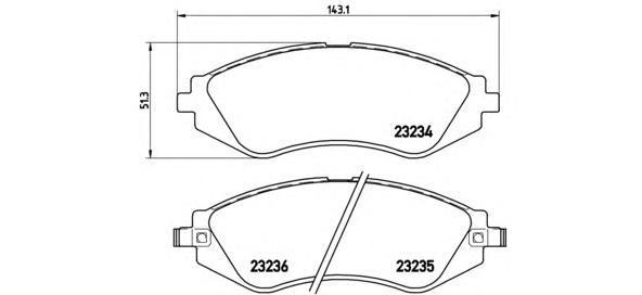 Колодки тормозные дисковые Brembo, передние. P15002P15002