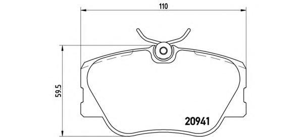Колодки тормозные дисковые Brembo, передние. P50008P50008