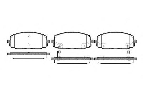 Колодки тормозные дисковые Remsa, комплект. 113302113302