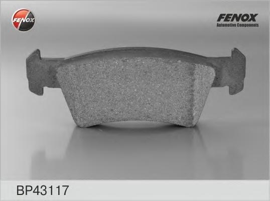 Колодки тормозные дисковые Fenox. BP43117BP43117