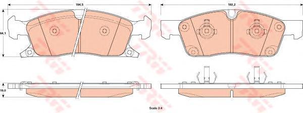 Колодки тормозные дисковые TRW. GDB4603GDB4603