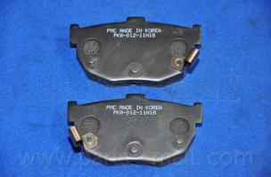 Колодки тормозные дисковые PMC, задние. PKA012PKA012