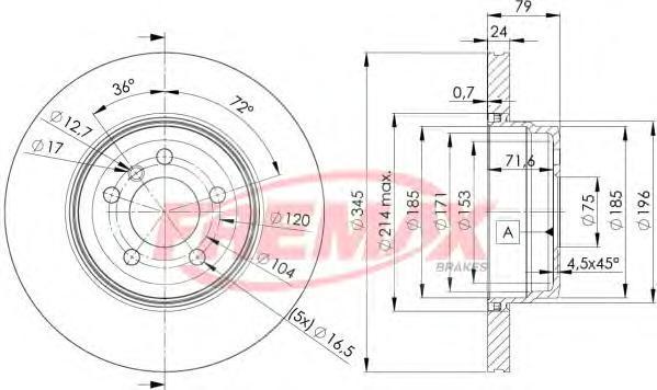 Диск тормозной Fremax, 2 шт. BD-1971BD-1971