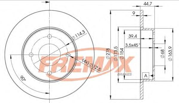 Диск тормозной Fremax, 2 шт. BD-2083BD-2083