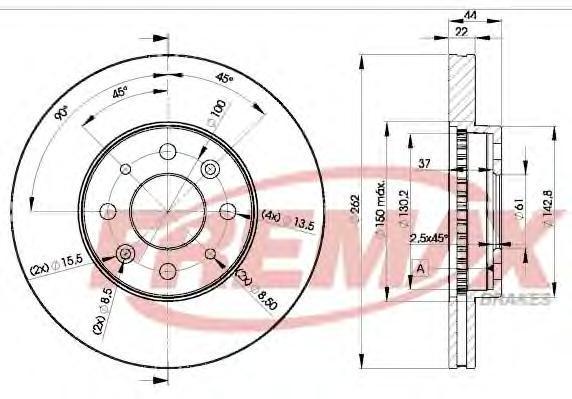 Диск тормозной Fremax, 2 шт. BD-2232BD-2232