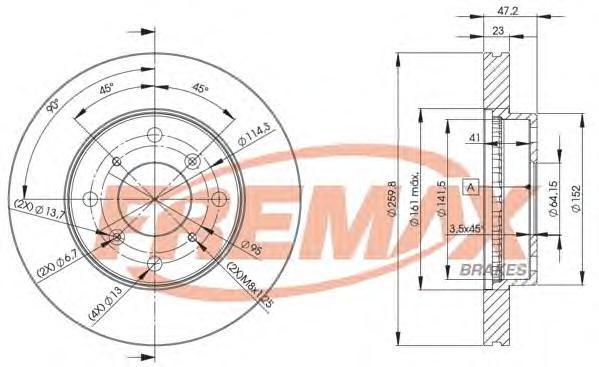 Диск тормозной Fremax, 2 шт. BD-2584BD-2584