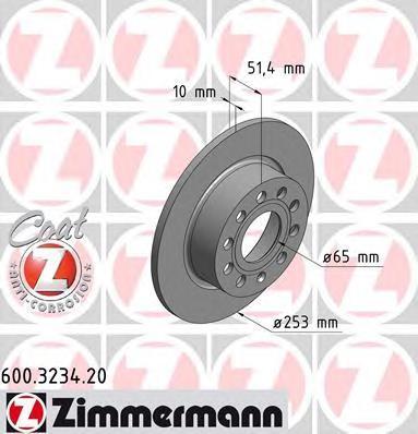 Диск тормозной Zimmermann, 2 шт. 600.3234.20600.3234.20