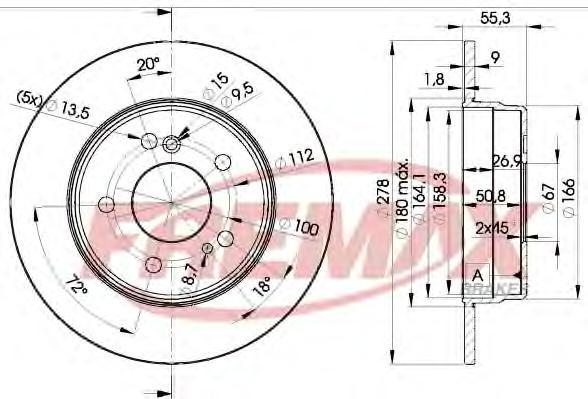 Диск тормозной Fremax, 2 шт. BD-0412BD-0412