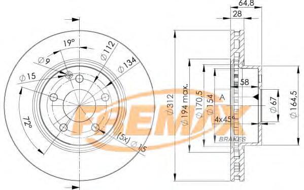 Диск тормозной Fremax, 2 шт. BD-0414BD-0414