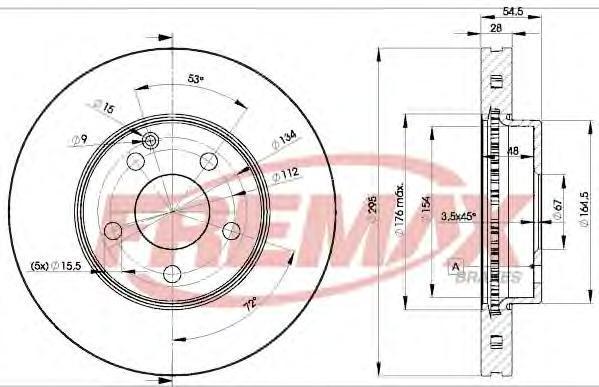 Диск тормозной Fremax, 2 шт. BD-0812BD-0812